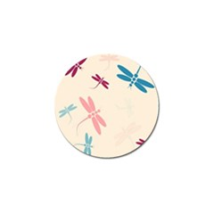 Pastel Dragonflies  Golf Ball Marker (4 Pack) by Valentinaart