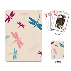 Pastel Dragonflies  Playing Card by Valentinaart