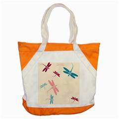 Pastel Dragonflies  Accent Tote Bag by Valentinaart