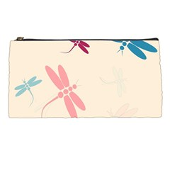 Pastel Dragonflies  Pencil Cases by Valentinaart