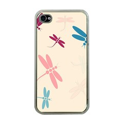Pastel Dragonflies  Apple Iphone 4 Case (clear) by Valentinaart