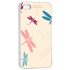 Pastel Dragonflies  Apple Iphone 4/4s Seamless Case (white) by Valentinaart