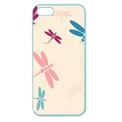 Pastel Dragonflies  Apple Seamless Iphone 5 Case (color) by Valentinaart