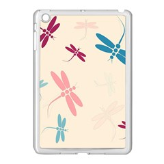 Pastel Dragonflies  Apple Ipad Mini Case (white) by Valentinaart
