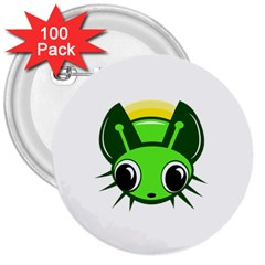 Transparent Firefly 3  Buttons (100 Pack)  by Valentinaart