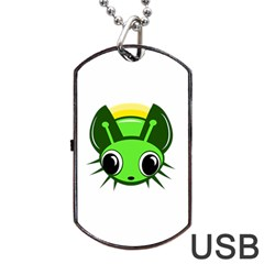 Transparent Firefly Dog Tag Usb Flash (one Side) by Valentinaart