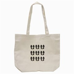 Black And White Fireflies Patten Tote Bag (cream) by Valentinaart