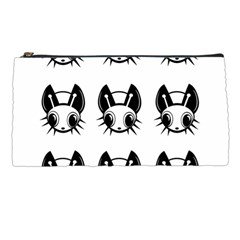 Black And White Fireflies Patten Pencil Cases by Valentinaart