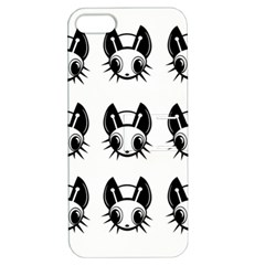 Black And White Fireflies Patten Apple Iphone 5 Hardshell Case With Stand by Valentinaart