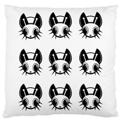 Black And White Fireflies Patten Large Flano Cushion Case (one Side) by Valentinaart