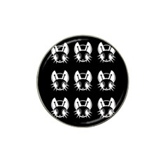 White And Black Fireflies  Hat Clip Ball Marker (4 Pack)