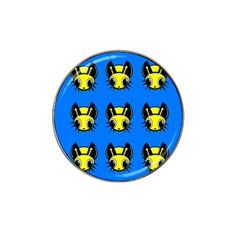 Yellow And Blue Firefies Hat Clip Ball Marker (10 Pack) by Valentinaart