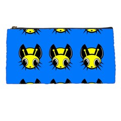Yellow And Blue Firefies Pencil Cases by Valentinaart