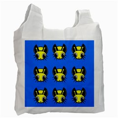 Yellow And Blue Firefies Recycle Bag (one Side) by Valentinaart