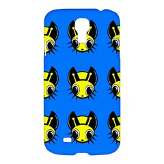 Yellow And Blue Firefies Samsung Galaxy S4 I9500/i9505 Hardshell Case by Valentinaart