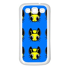 Yellow And Blue Firefies Samsung Galaxy S3 Back Case (white) by Valentinaart