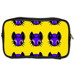 Blue And Yellow Fireflies Toiletries Bags