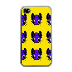 Blue And Yellow Fireflies Apple Iphone 4 Case (clear) by Valentinaart