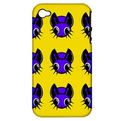 Blue And Yellow Fireflies Apple Iphone 4/4s Hardshell Case (pc+silicone) by Valentinaart