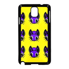 Blue And Yellow Fireflies Samsung Galaxy Note 3 Neo Hardshell Case (black) by Valentinaart