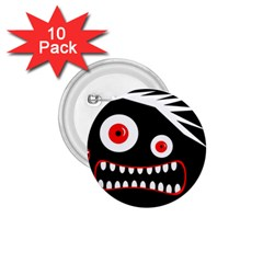 Crazy Monster 1 75  Buttons (10 Pack) by Valentinaart