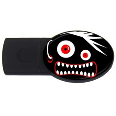 Crazy Monster Usb Flash Drive Oval (2 Gb)  by Valentinaart