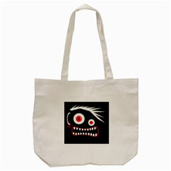Crazy Monster Tote Bag (cream) by Valentinaart