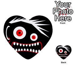 Crazy Monster Multi Purpose Cards (heart)  by Valentinaart