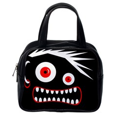 Crazy Monster Classic Handbags (one Side) by Valentinaart