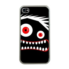 Crazy Monster Apple Iphone 4 Case (clear) by Valentinaart