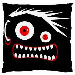 Crazy Monster Large Cushion Case (two Sides) by Valentinaart