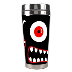 Crazy Monster Stainless Steel Travel Tumblers by Valentinaart
