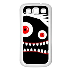 Crazy Monster Samsung Galaxy S3 Back Case (white) by Valentinaart