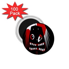 Zombie Face 1 75  Magnets (100 Pack)  by Valentinaart