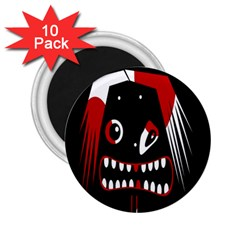 Zombie Face 2 25  Magnets (10 Pack)  by Valentinaart