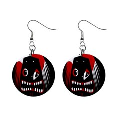 Zombie Face Mini Button Earrings by Valentinaart