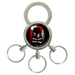 Zombie Face 3 Ring Key Chains by Valentinaart