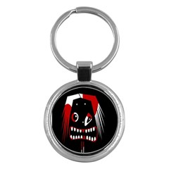 Zombie Face Key Chains (round)  by Valentinaart