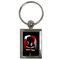 Zombie Face Key Chains (rectangle)  by Valentinaart