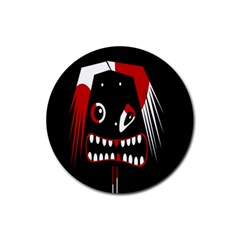 Zombie Face Rubber Round Coaster (4 Pack)  by Valentinaart