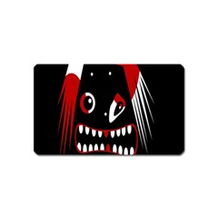 Zombie Face Magnet (name Card) by Valentinaart