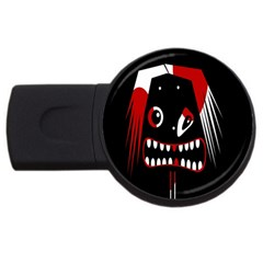 Zombie Face Usb Flash Drive Round (4 Gb)  by Valentinaart