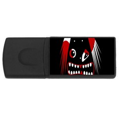 Zombie Face Usb Flash Drive Rectangular (4 Gb)  by Valentinaart