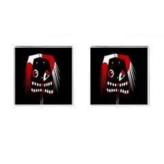 Zombie Face Cufflinks (square) by Valentinaart