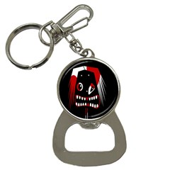 Zombie Face Bottle Opener Key Chains by Valentinaart