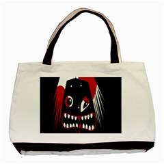 Zombie Face Basic Tote Bag by Valentinaart