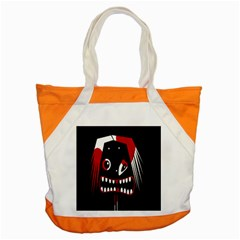 Zombie Face Accent Tote Bag by Valentinaart