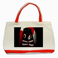 Zombie Face Classic Tote Bag (red) by Valentinaart