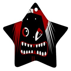 Zombie Face Star Ornament (two Sides)  by Valentinaart