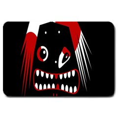 Zombie Face Large Doormat  by Valentinaart